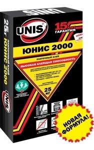 Клей для плитки Юнис 2000. Unis 25кг. - фото 4254